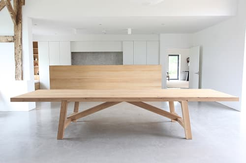Tables by Design by Timber seen at Private Residence - Bespoke chunky oak dining table