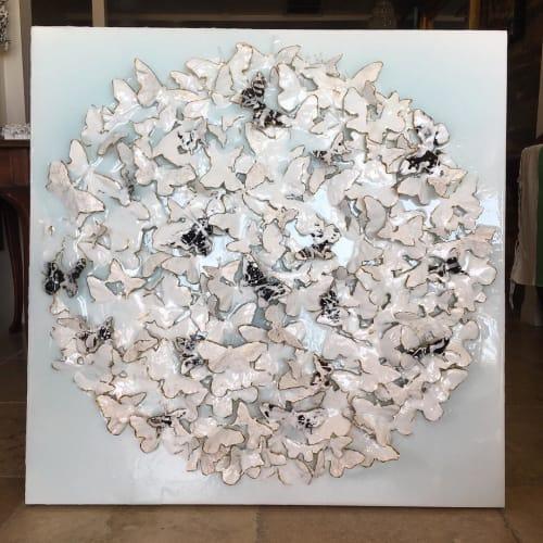 Art & Wall Decor by Kristina Grace seen at Private Residence, Newport Beach - Winter Butterflies