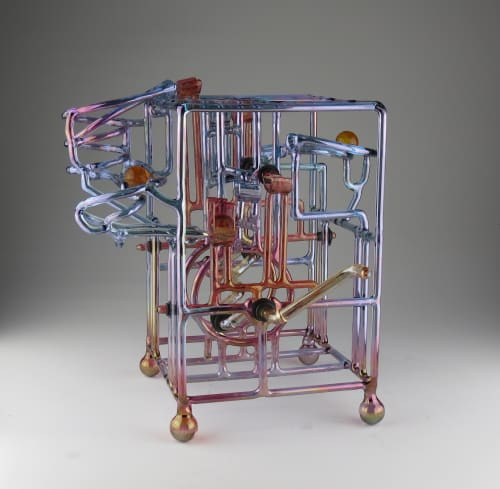 Sculptures by Bandhu Dunham seen at Private Residence, Santa Monica, CA, Santa Monica - FRED Series Marble Machine