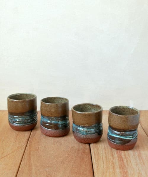 Teacups Set of 4 | Cups by ShellyClayspot