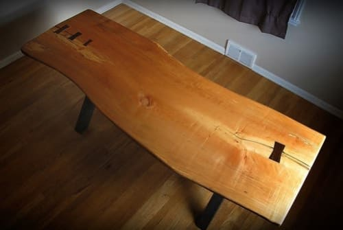 Tables by Ryan Wells seen at Private Residence, Seattle - Live edge table