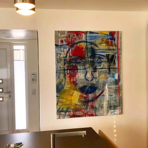Paintings by NADO seen at Private Residence, Munich - NADO Art