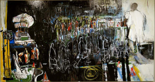 Paintings by Arlene Amaler-Raviv seen at Harbour Island, Cape Town - a city is a city is a city