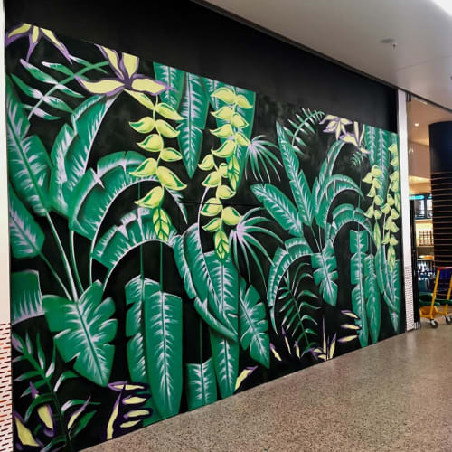 Murals by Jadore seen at East Side Mall, Berlin - Jungle Mural