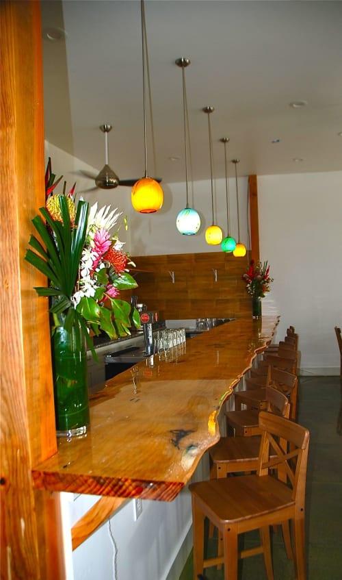 Lighting Design by Rick Strini seen at Paia Inn, Paia - blown glass pendants