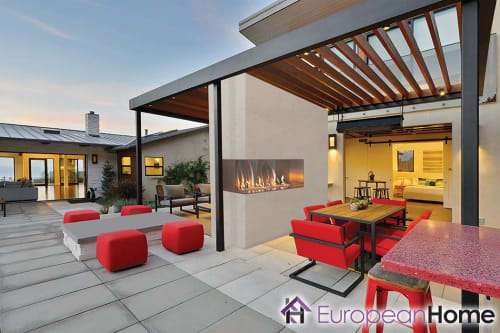 Fireplaces by European Home seen at Santa Rosa, Santa Rosa - J Series Outdoor Gas Fireplace