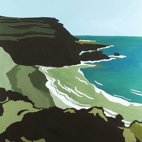 Paintings by Between the Evergreens - Green Sand Beach