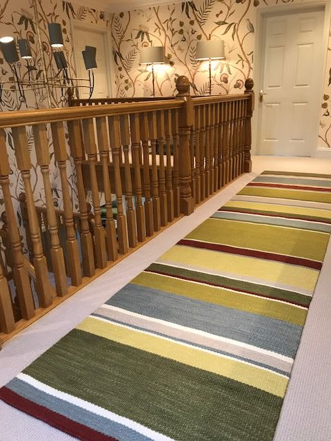 Rugs by Karoo Looms seen at Private Residence - Custom stripe runner