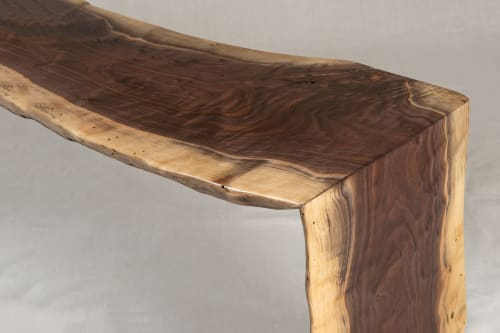 Tables by Local Wood seen at Private Residence, Harrisonburg - Walnut Waterfall table