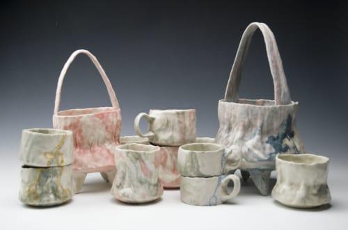 Vases & Vessels by Kym Gardner Ceramics seen at Worcester Center For Crafts, Worcester - Flower Baskets
