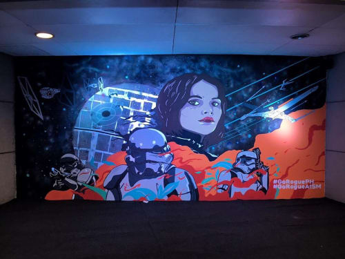Murals by KFK Collective seen at SM Sky Dome, Quezon City - Star Wars Rogue One Mural