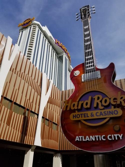 Signage by Jones Sign Company seen at Hard Rock Hotel Casino Atlantic City, Atlantic City - Hard Rock Atlantic City Casino