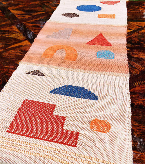 Tableware by Zanny Adornments seen at Private Residence - Austin, TX, Austin - Handwoven Abstract Table Runner