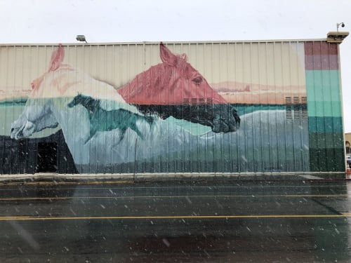 Street Murals by Erik Burke seen at Ramada by Wyndham Elko Hotel at Stockmen's Casino, Elko - Do Unto Others and Run Like A Mother