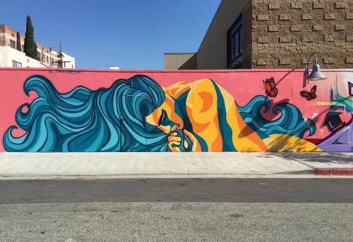 Street Murals by Spencer McCarty seen at North Edgemont Street, Los Angeles - Mural in Los Feliz