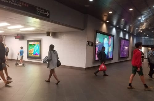 Art Curation by Dave Greber seen at Fulton Street Subway Station, New York - Skyyys™