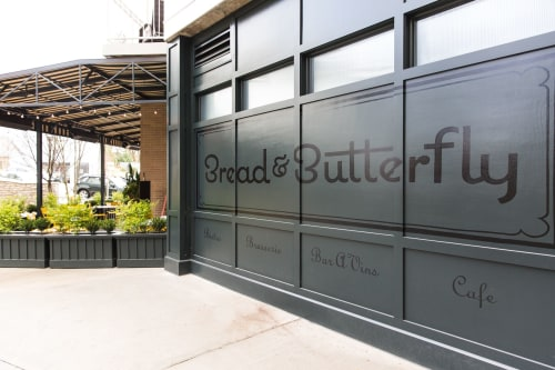 Signage by Staci Janik Studio seen at Bread & Butterfly, Atlanta - Brand Sign