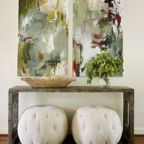 Paintings by Mary Beth Cornelius seen at Private Residence, Alpharetta - pair