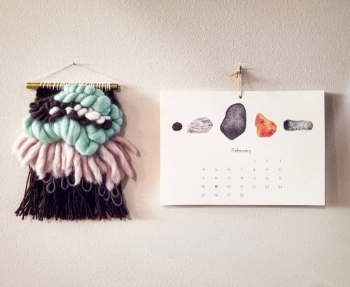 Art & Wall Decor by Sophie Tivona Illustration seen at Private Residence - Rockhound calendar