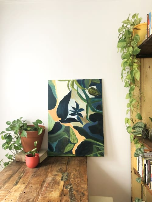 Paintings by Zara Fina Stasi (Good for the Bees) seen at Private Residence, Brooklyn - Birds Eye View- Painting
