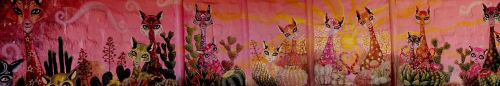 Murals by JAY.MT seen at Cactus Country, Strathmerton - The Grotto of Hearts