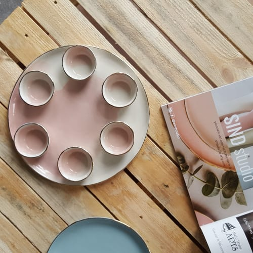 Ceramic Plates by SIND STUDIO seen at The Jewish Museum, New York - Seder Plate by SIND STUDIO
