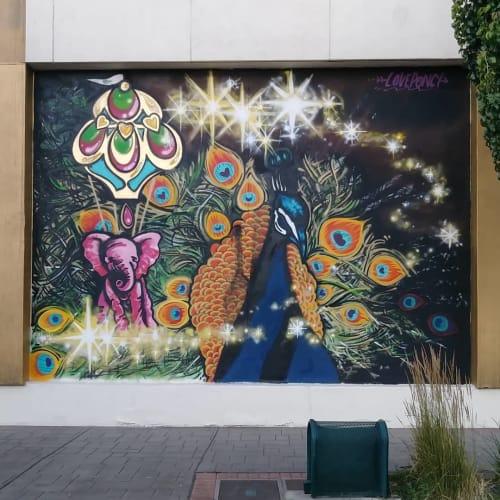Murals by Love Ponci seen at Circus Circus Reno, Reno - Peacock Mural