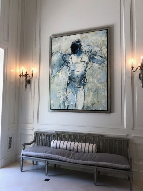 Paintings by Jylian Gustlin at Private Residence, Atherton - Icarus