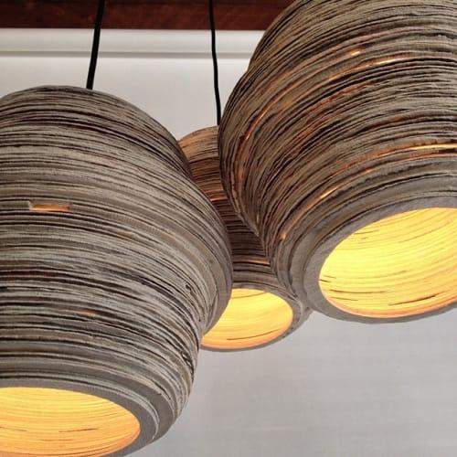 Pendants by LightLite at Boxer Ramen, Portland - Grain Lights