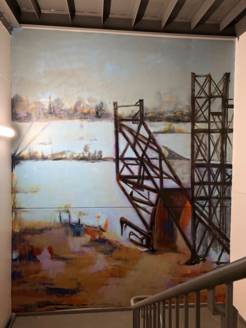Murals by Cyd Smillie seen at Private Residence, Chicago - South tower art