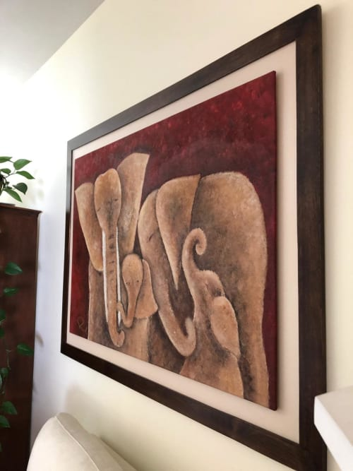Paintings by Monterroso Studio seen at Private Residence - Elephant Love