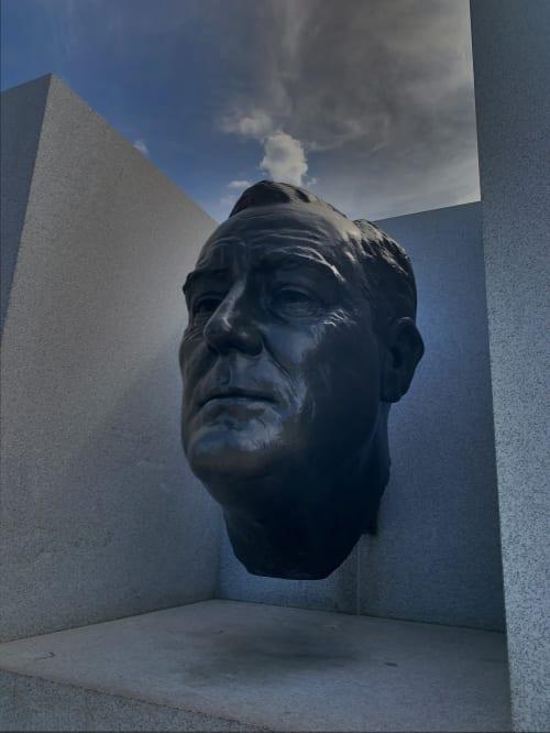 Public Sculptures by Jo Davidson seen at Franklin D. Roosevelt Four Freedoms State Park, New York - Jo Davidson