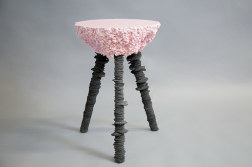Chairs by Gavin Stanley Keightley seen at Plymouth, Plymouth - Pink & Black Stool