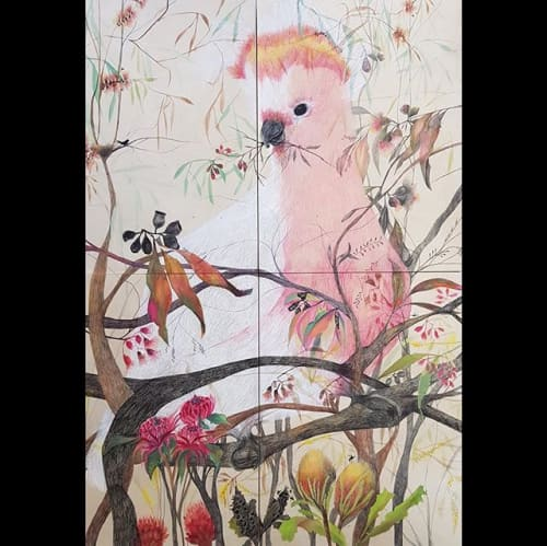 Paintings by Julianne Ross Allcorn ARTIST seen at The Levee Art Gallery & Studios, Maitland - The Pink Lady