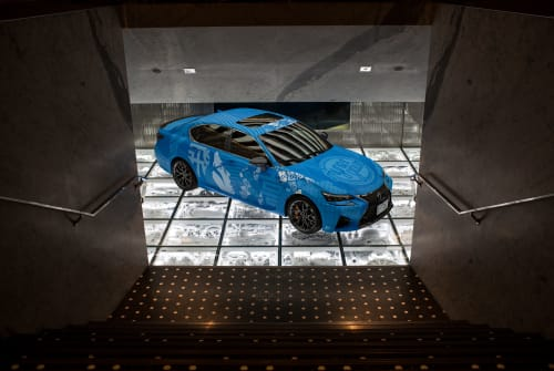 Architecture by Myneandyours seen at Intersect By Lexus - Dubai, دبي - Lexus GS-F