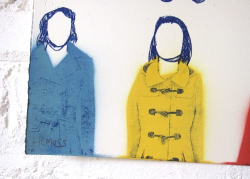 Paintings by Adam Hemuss seen at Private Residence, London - Colourful Coats