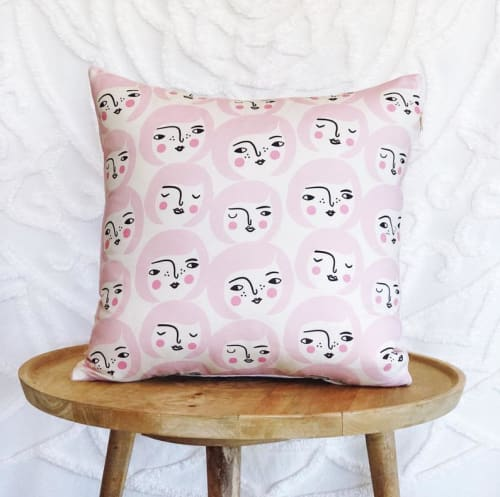 Pillows by Tribe & Temple seen at Private Residence, Gold Coast - Lissa and Britta Cushion Cover