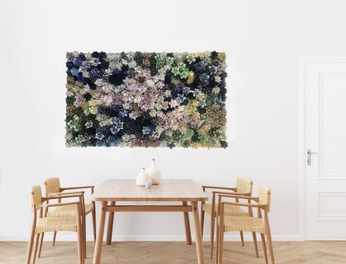 Sculptures by Lauren Naomi Fine Art seen at Private Residence, New York - Garden Bonanza - Monet Topography 1