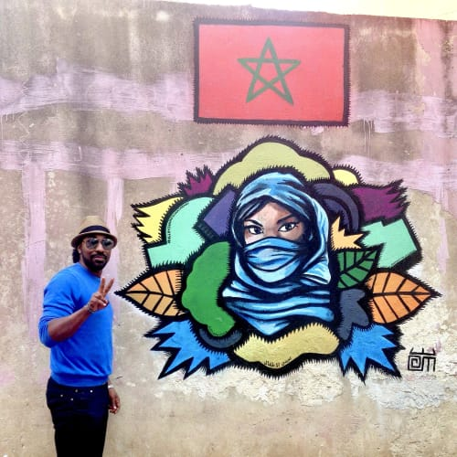Street Murals by Alloyius Mcilwaine Art seen at Transatlantique, Casablanca - Casablanca Muse