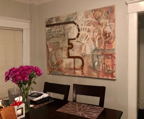Paintings by Rose M Barron at Private Residence, Atlanta - Mapping 5