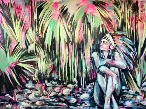 Paintings by Gretel Joffroy seen at Private Residence, Monterrey - Quiet Warrior