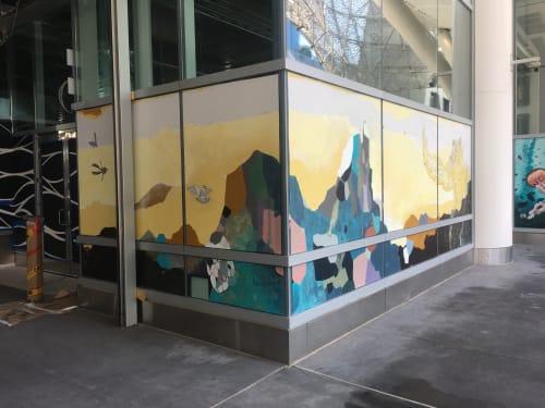 Murals by Ytaelena seen at Salesforce Transit Center, San Francisco - Becoming Gorilla