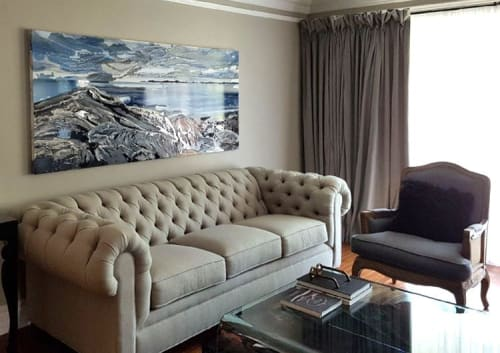 Paintings by Celina Melo seen at Private Residence, Mississauga - On the Rocks