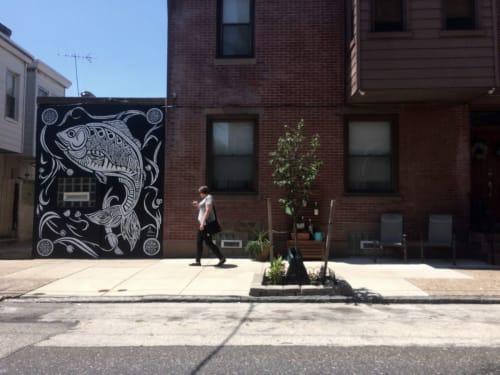 Street Murals by Sean Martorana seen at Private Residence, Philadelphia - BerksShad Mural in Fishtown, Philadelphia, PA