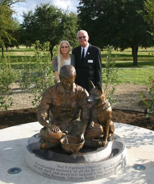 "Public Sculptures by Paula Slater Sculpture seen at Private Residence, San Antonio - ""Not Forgotten Fountain"""