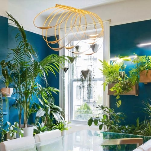 Chandeliers by Elish Warlop Design Studio seen at Greenery NYC, Brooklyn - Rings LED Chandelier