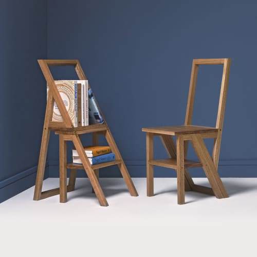 Chairs by CHARLIE CAFFYN FURNITURE seen at Private Residence - Iford Library Step Chair