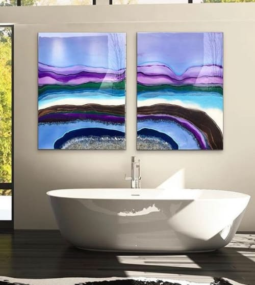Paintings by KJ LEO DESIGNS seen at Private Residence, Seattle - Rainbow Keeper