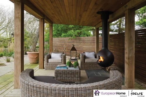 Interior Design by European Home seen at 30 Log Bridge Rd, Middleton - Bathyscafocus Outdoor Wood Fireplace