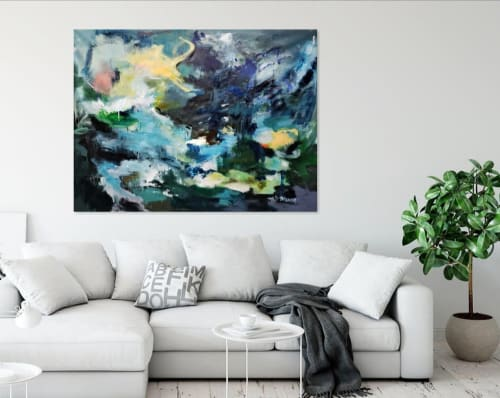 Art Curation by Marie Manon Art seen at Private Residence, Calgary - Between Night and Day